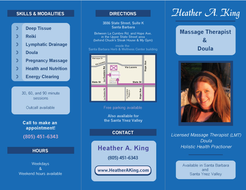 massage therapy brochure templates .